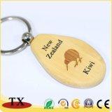 Горячая продажа бука деревянные цепочке для ключей с выгравированными логотип