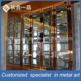 Bodega modificada para requisitos particulares del oro de Rose de la rayita del acero inoxidable para el club/el hotel