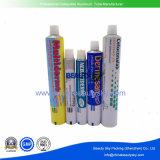 Los cosméticos Cuidado de la piel del cuerpo de aluminio blanco Crema de manos del tubo de embalaje plegable