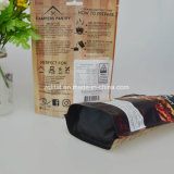 Kundenspezifischer Kaffee-Fastfood- Beutel mit Reißverschluss