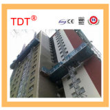 Tdtの静止した調節可能で安全なマスト上昇作業プラットホーム