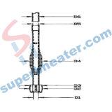 Запасные части для типа трубчатых машин Oakley завалки заполнения обогревательной труба подогревателя