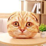 O animal enchido do luxuoso do gato caçoa brinquedos macios do descanso da criança do bebê