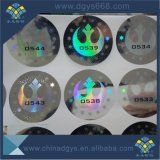 Número de Barras de Design Personalizado Adesivo Laser com holograma de Prata