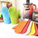 Guanto commerciale 18X31cm del forno della cucina del forno guanti mezzi dentellare/arancioni di modo