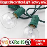 Bulbo aprobado del claro de la luz de la cadena de la UL G40 LED para la decoración