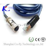 Защищать разъем кабеля M12 металла прямой круговой