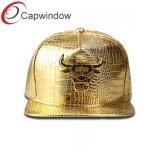 Panel 5 de alta frecuencia de cuero sombrero Snapback