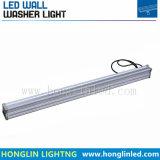 12W 18W 36W LED bañador de pared de la luz de lámpara lineal del paisaje de la pared