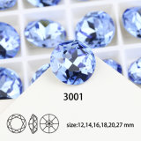 Pedra K9 extravagante de cristal traseira apontada material para resultados da jóia