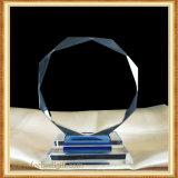 Aduana transparente del trofeo del vidrio cristalino
