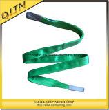 Полиэстер ремень на подъемной проушине плоского ремня с помощью строп (NHWS-A)