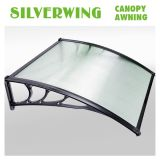 Toldo de policarbonato de hoja sólida de 80 * 100 Toldo de medio ronda de toldo de ventana Toldo de sombra plegable