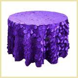 의자 테이블 장식적인 테이블 피복 직물을%s 결혼식 호박단 원형 레이스 직물