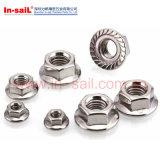 La norme DIN1667 All-Metal prévalant au couple les écrous de blocage à embase hexagonale de