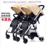 Passeggiatore gemellare del bambino/passeggiatore dei capretti/passeggiatore piegante 3 in 1