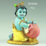 Het in het groot Indische Hindoese Standbeeld van Krishna van de Baby van Krishna Murti van de God Pooja