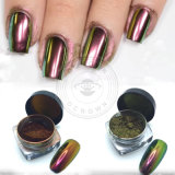 Or couleur chrome Chameleon modifiable de clous de la poudre de pigment