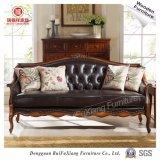 N311 Ruifuxiang Muebles de salón sofá de cuero con bastidor de abedul
