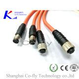 Мужчина и женские электрические M8 6p делают кабельный соединитель водостотьким