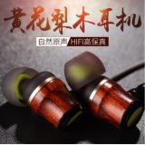 Auriculares de madeira da em-Orelha trançada profunda estereofónica de alta fidelidade do baixo para o iPhone