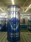 Pode moldar o Refrigerador de Bebidas Redonda bebida energética do refrigerador do Canhão