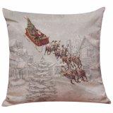 45X45cm de Uitstekende Kerstman Van uitstekende kwaliteit drukten de Dekking van het Kussen van Kerstmis af
