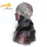 Pelucas brasileñas brasileñas del cordón del pelo el 100% de la media peluca del cordón