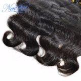 Unprocessed естественное Weft китайское выдвижение человеческих волос объемной волны
