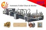 Máquina de costura del rectángulo automático de alta velocidad del cartón