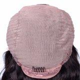 Долго 16-24 дюйма вьющихся волос человека Glueless кружева передней парики
