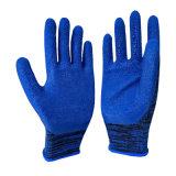 13 gants enduits fonctionnants de latex de mousse de mesure