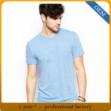 カスタム人の緩いブランクスコップの首の不足分の袖のTシャツ