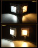 Luz solar do jardim da luz da calha do diodo emissor de luz