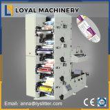 4 couleurs autocollant papier d'étiquette Machine d'impression flexographique