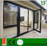 Großhandelsaluminiumflügelfenster-Tür mit ausgeglichenem Glas für Verkauf