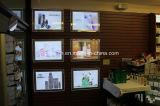Установленная стена рекламирующ Lightbox Acrylic с кристаллический рамкой