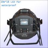 IP65 het waterdichte Openlucht LEIDENE RGBWA van het Stadium 18*15W 5in1 Licht van het PARI