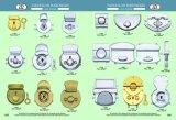 Blocage de presse de sac de blocage de bouton poussoir en métal d'or pour des sacs à main