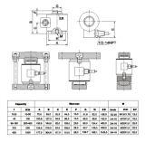 Cella di caricamento di pressione della colonna della scala del camion (CP-1)