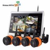 4CH Uitrusting van WiFi NVR van het Toezicht van de Camera van WiFi bouwde de Draadloze het Scherm 10.1inch in