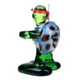 Труба ложки стеклянной черепахи Ninja куря трубы трубы руки стеклянной стеклянная