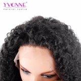 Arricciatura malese di colore di Yvonne del Virgin del merletto della parrucca umana cinese naturale della parte anteriore
