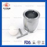 Válvula de Retenção de sanitários em aço inoxidável com Purga Manual Tipo Esfera