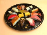 Haalt de Plastic Plaat van het Dienblad van de Dienst van het Huis van sushi de Container van Sushi weg
