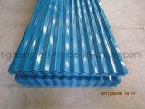 Hoja de acero acanalada simple del material para techos de la buena calidad PPGI de la construcción