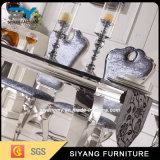 卸し売り家具6つのSeaterのガラス表の黒いダイニングテーブル