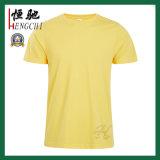 주문 노란 둥근 목 싼 선전용 면 남자의 t-셔츠