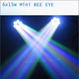 Bienen-Augen-bewegliches Hauptlicht LED-6*15W 4in1 RGBW LED