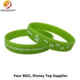 Il Wristband impresso personalizza il fornitore dell'oro del braccialetto 3D del silicone